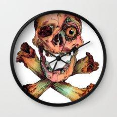 Skull in Color Wall Clock