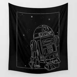"""""""R2-D2 White"""" by Maggie Stephenson Wall Tapestry"""