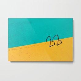 Dive in! minimalistic pool Metal Print