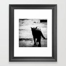 All In Black Framed Art Print