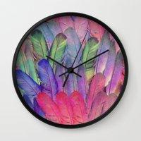 boho Wall Clocks featuring Boho II by Marta Olga Klara