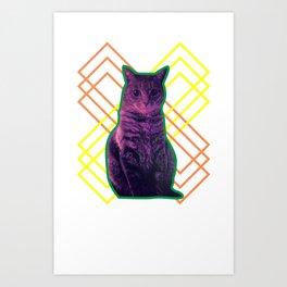 Momo the Cat Art Print