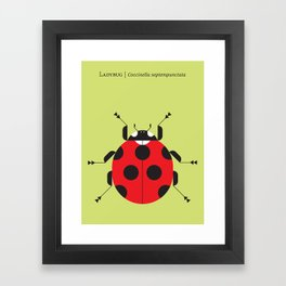 Lady Bug Yellow Framed Art Print