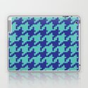 Houndstooth - Blue & Turquoise by dizanadesigns