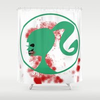 zombie Shower Curtains featuring Zombie by Los Espada Art