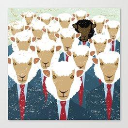 Humanimals: black sheep Canvas Print