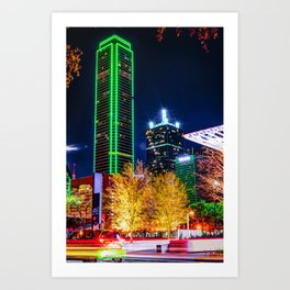 Downtown Dallas Skyline Towers Art Print