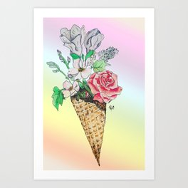 Vegan Ice Cream Art Print