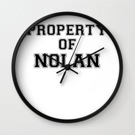 Property of NOLAN Wall Clock