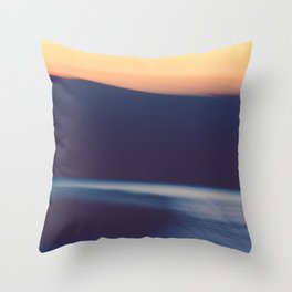 Mountain Sunrise Over Lake - Long Exposure Abstract Throw Pillow