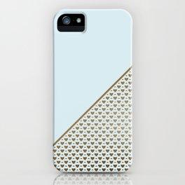 Heartless 2 - Aqua + Brass iPhone Case