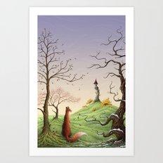 The Fox's Tower Art Print