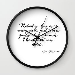 How much can the heart hold Wall Clock
