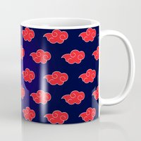 suit Mugs featuring Akatsuki Suit by bimorecreative