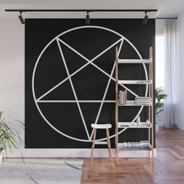 Inverted Pentagram Wall Mural