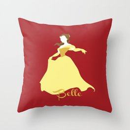 Belle from Beauty and the Beast Throw Pillow