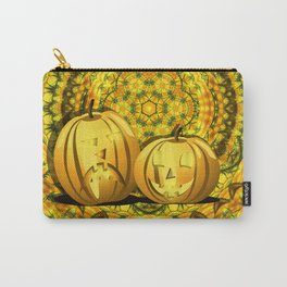 Halloween pumpkins and fall kaleidoscope Carry-All Pouch