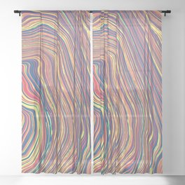 Marbled Geode Sheer Curtain