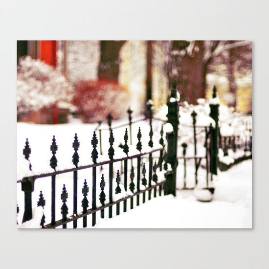 November Snow Canvas Print