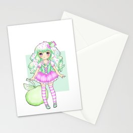 Apple Girl Stationery Cards