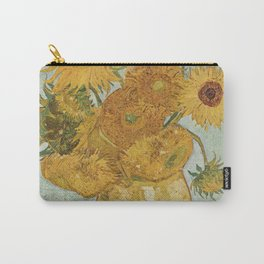 Vase with Twelve Sunflowers, Van Gogh Carry-All Pouch