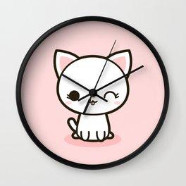 Kawaii Kitty 3 Wall Clock