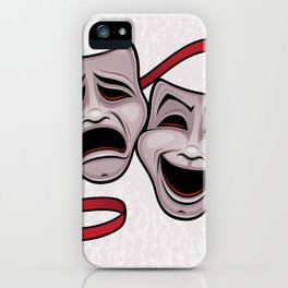 Comedy And Tragedy Theater Masks iPhone Case