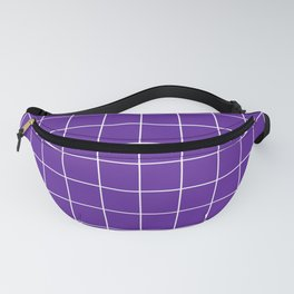 Grape Grid Fanny Pack
