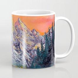 Mountains landscape at sunset Coffee Mug
