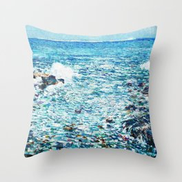 Surf, Isles Of Shoals - Digital Remastered Edition Throw Pillow