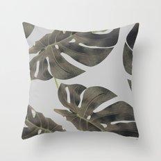 Monstera V2 #society6 #decor #buyart Throw Pillow