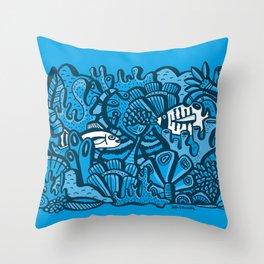 Encounter / Encuentros Throw Pillow