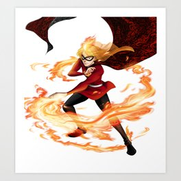 Fire Girl Art Print