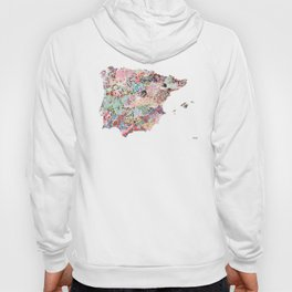 Spain map flowers composition Hoody