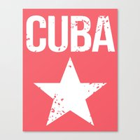 cuba Canvas Prints featuring CUBA by Department M