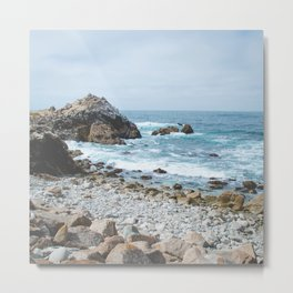 The Restless Sea | Nature Landscape Photography of the Californian Coast's Blue Waves Metal Print