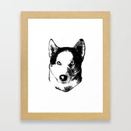 I love my husky Framed Art Print