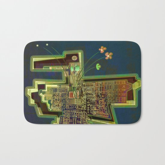 Good Vibes from the Robotic City Lab Bath Mat