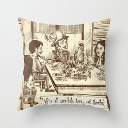 We're all cannibals here Throw Pillow