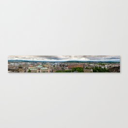 Panoramic of Edinburgh Canvas Print