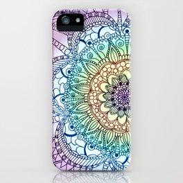 Purple Butterfly Mandala iPhone Case