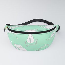 French Cats - Mint Green Fanny Pack