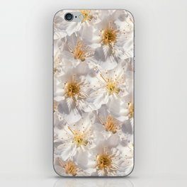 White Cherry Blossoms Pattern iPhone Skin