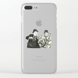 Laurel and Hardy Clear iPhone Case