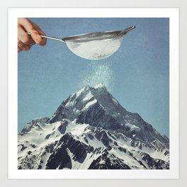 Sifted Summit II Art Print