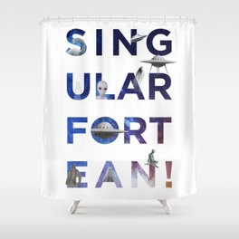 The Universe of Singular Fortean Shower Curtain