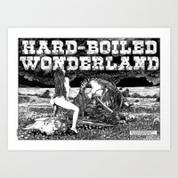 murakami Art Prints featuring asc 610 - Les champs de la mort (hardboiled wonderland) by From Apollonia with Love