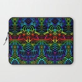 Tangled rainbow flowers Laptop Sleeve