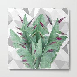 Tropical leaves. Metal Print