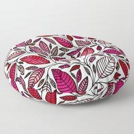 Red Leaf - Floral Illustration *P07 003 Floor Pillow